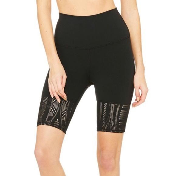 f4092afc38 ALO Yoga Shorts | Alo High Waisted Biker Black Lace | Poshmark